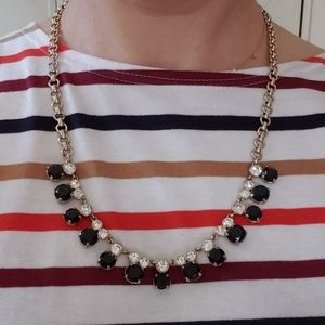 J Crew faceted black stone necklace